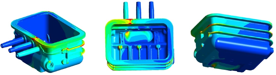 Thermal analysis plastic moulding