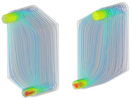 Thermal CFD analysis for plate heat exchanger