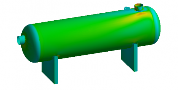 Stress FEA analysis pressure vessel