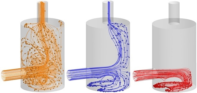 Particle settlement CFD analysis