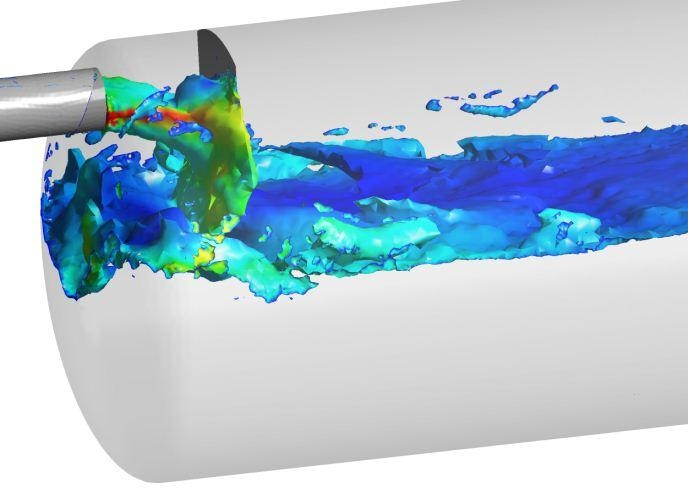 CFD and FEA analyses of a gravity separator