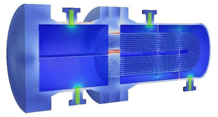 Thermal CFD analysis heat exchanger